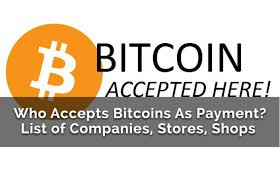 Which Companies  Accepts Bitcoins as Payment So far?