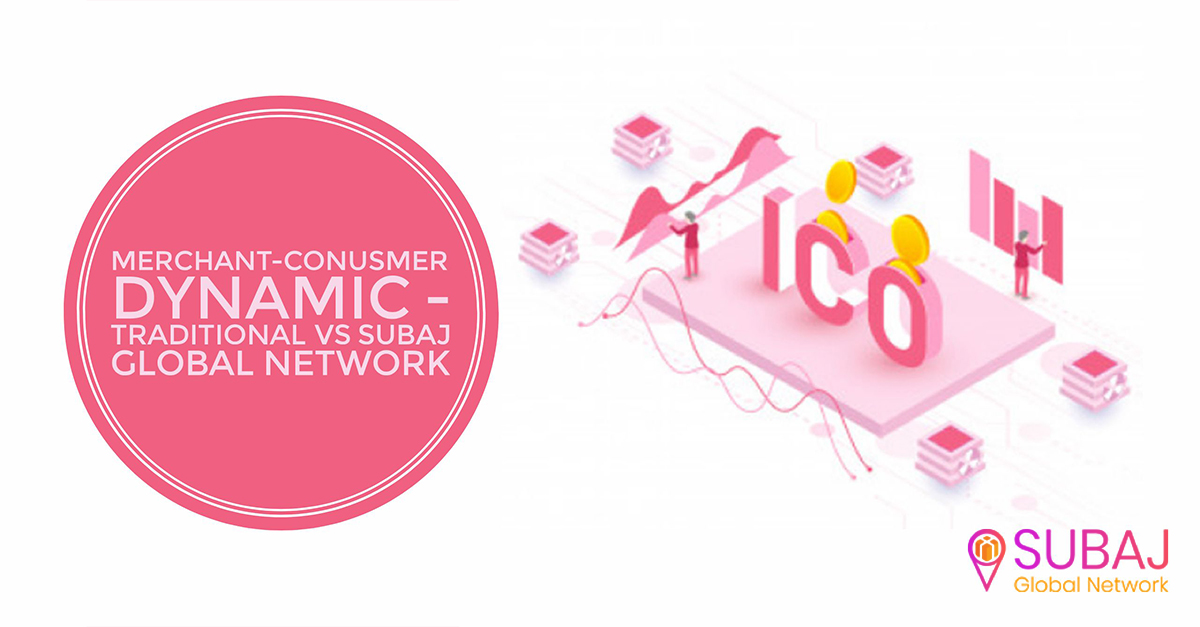 Merchant-Consumer Dynamic — Traditional vs SUBAJ Global Network
